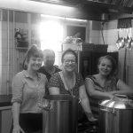 Das Küchenteam Anna, Miri, Patricia und Andi