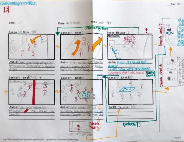 Feierwerk_Blog_Jugendredaktion_Filprojekt Raumschiff_Storyboard 1