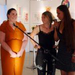 Die Künstlerinnen Jana Roth, Florencia Bley und Alexandra Lotter