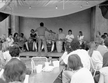 Feierwerk_Blog_Geschichte_Historie_Mollhalle_1985_Mollhalle_Percussion_Workshop_01_credit_Feierwerk
