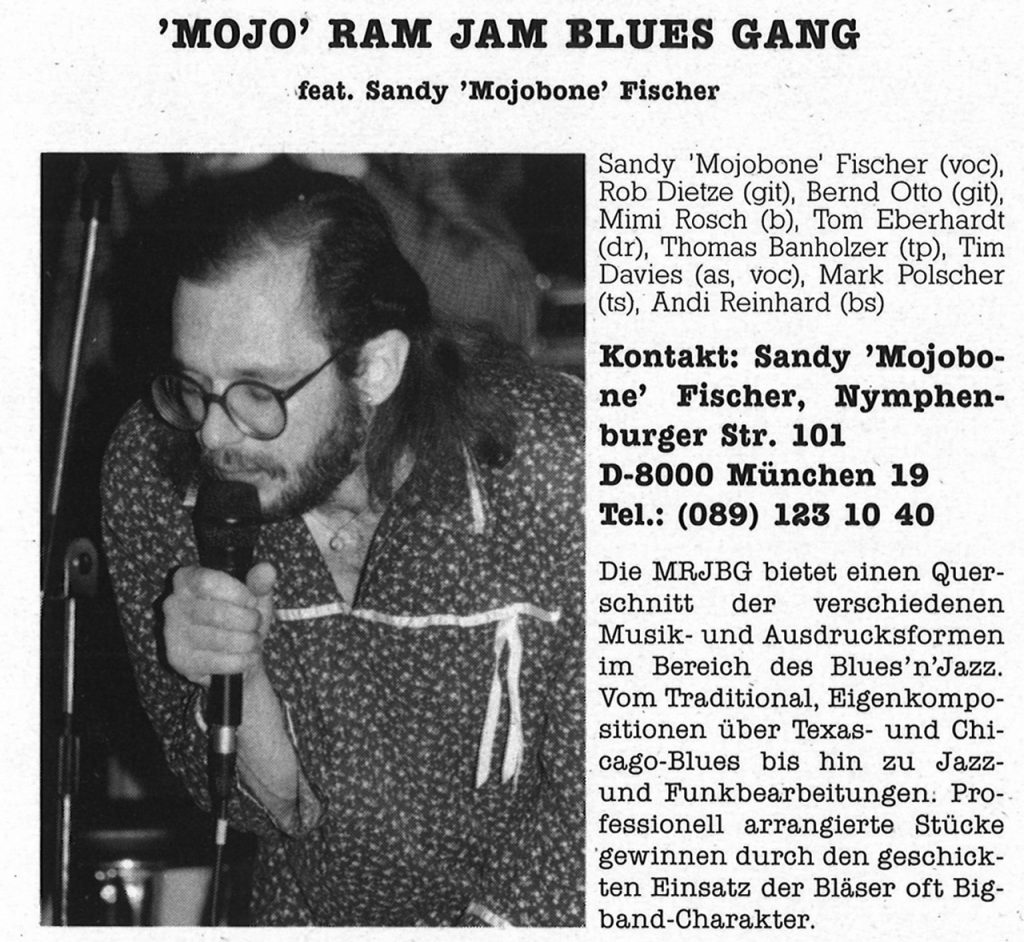 Feierwerk_Blog_Munich_Blues_LP_Sunrise_1988_ Band 2_Mojo_Ram_Jam_Blues_Gang_(c)Feierwerk